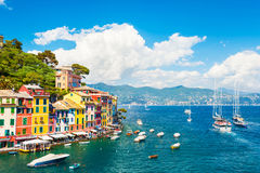 Sea coast in Portofino, Italy Stock Photos