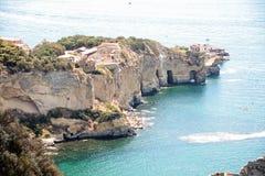 Sea and coast of Posillipo, Royalty Free Stock Photo