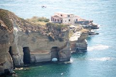 Sea and coast of Posillipo, Royalty Free Stock Images