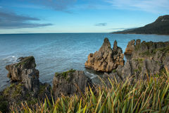 Sea coast from Punakaki national park, New Zealand. Stock Image