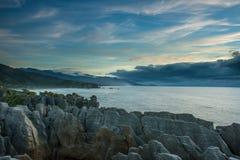 Sea coast from Punakaki national park, New Zealand. Royalty Free Stock Photo