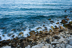Sea coast with rocks Royalty Free Stock Photography