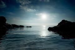 Sea coast with rocks Stock Photo