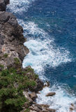 Sea coast. Rocks in the sea near Paleokastritsa, Corfu Island, Greece Stock Photography