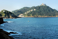Sea coast of San Sebastian Stock Photos