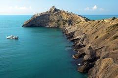 Sea coast with mountains Stock Image