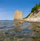 Sea coast and sky Stock Image