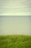 Sea coast in the spring in hot weather Stock Images