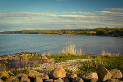 Sea coast in the spring in hot weather Stock Photography