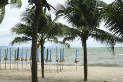 Sea and the coast on a stormy winter day, a seen from a beach in. Thailand Stock Photography