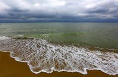 Sea coast in strom Stock Photo