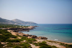 Sea coast in summer day royalty free stock image