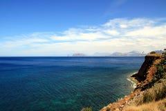 Sea Coast Summer Landscape, Italy Stock Photos
