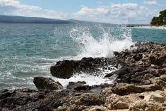 Sea coast. Sunny day by sea coast Royalty Free Stock Photo