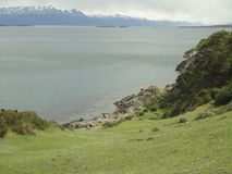 Sea coast in tierra del fuego Stock Photo