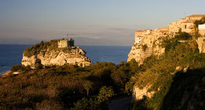 Sea coast in Tropea Italy. Area in Calabria near to Capo Vaticano Royalty Free Stock Photo