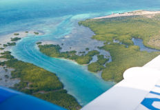 Sea coast in tropics. Aerial view Stock Photos