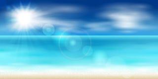 Sea coast. Vector illustration of a beautiful sea coast royalty free illustration