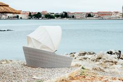 Sea coast. Sea view. The stony coast of the Adriatic Sea Royalty Free Stock Image