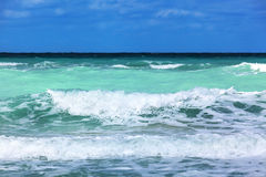 Sea coast with waves Stock Photo