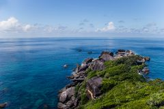 Sea coastal landscape. Beautiful sea coast landscape on Similan islands, Thailand Royalty Free Stock Photography