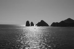 Sea, Coastal And Oceanic Landforms, Black And White, Body Of Water Stock Photos
