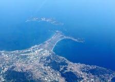 Sea coastline. Aerial view on the sea coastline Stock Images