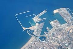 Sea coastline. Aerial view on the sea coastline Royalty Free Stock Images
