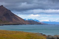 Sea Coastline of East Iceland Royalty Free Stock Images