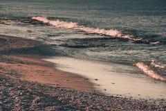 Sea coastline in the evening. Alanya, Turkey, Mediterranean sea. Stock Photo
