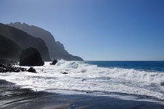 Sea with coastline on La Gomera Royalty Free Stock Photography