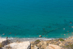 Sea and coastline view from a rocky height Stock Images