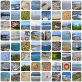 Sea coasts mosaique Royalty Free Stock Photo