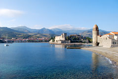The sea in Collioure Royalty Free Stock Photography
