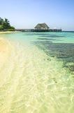 Sea color in Maldives stock photo