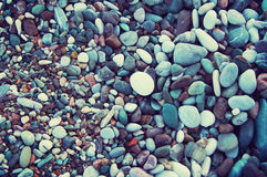Sea color pebble Royalty Free Stock Photos
