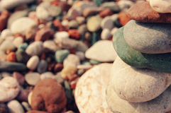 Sea color pebble Stock Photo