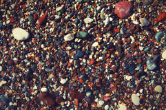 Sea color pebble Royalty Free Stock Image