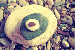Sea color pebble Stock Images