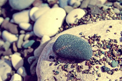 Sea color pebble Stock Photos