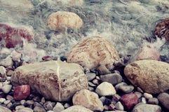 Sea color pebble Stock Photos