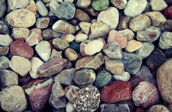 Sea color pebble Stock Photo