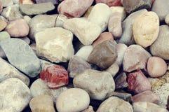 Sea color pebble Stock Image