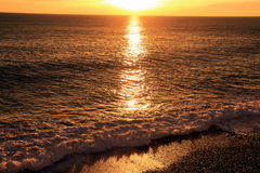 Sea. The colors of the sunset over the sea Royalty Free Stock Photos