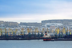 Sea commercial port Stock Photo