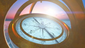 Sea compass stock footage