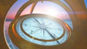 Sea compass stock footage
