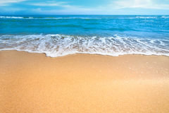 Sea concept background -  beautiful empty  Beach Stock Image