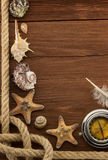 Sea concept on wood Royalty Free Stock Images