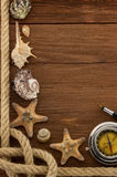Sea concept on wood Royalty Free Stock Photography